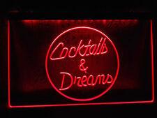 Cocktails Cocktail Dreams Bartender Neon Sign Light Plate Flag Pub Gift Bar Club