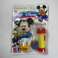 Mattel Vintage Disney Mickey Mouse & Donald Duck Fun Faces Flashlight Torch Set