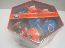 Lionel Christmas Ornaments Set 14 NIB 2013 Hexagon Gift Box With Lid Decoupage