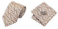 Beiges Brown Novelty 100% Silk Classic Mens Necktie Tie Hanky Cufflink Set NT221