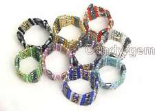 """SALE Wholesale 10X Multicolor Cloisonne &Hematite Magnetic 28"""" bracelet-110"""