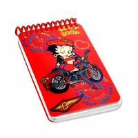 Lenticular Betty Boop Spiral Motorcycle Black Notebook 2x4in200Page #BB-206-NBM#