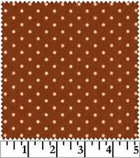 Shadow Play  Woolies  Flannel - Rust Dots F18131-M