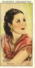 players cigarette card .film stars : raquel torres