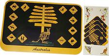 Australia Souvenir Set of 4 Placemats & Coasters Road Sign Australia Animals