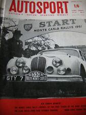 AUTOSPORT Jan 27th 1961 * Monte Carlo Rally 1st fasi & FORMULA JUNIOR Review *