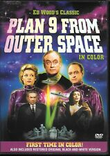 Plan 9 From Outer Space (DVD) Ed Wood Color & Black & White Version!