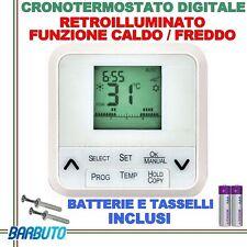 CRONOTERMOSTATO RETROILLUMINATO PROGRAMMABILE DIGITALE FUNZIONE CALDO O FREDDO