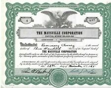 300 SHARES OF MAYSVILLE CORP. FOR SINGER ROSEMARY CLOONEY, NOT CANCELLED, 1965