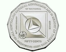 2011 50c Coin 60th Anniversary of National Service Australian Money 50 Cent UNC