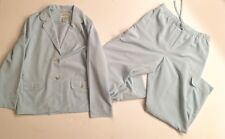 Orvis Women's Shell & Pants, Light Blue, Polyester - Jacket 12, Pants M, EUC