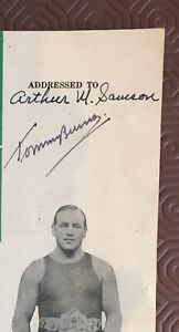Tommy Burns Autograph On 1947 Veteran Boxer Magazine