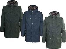 Wax Parka Jacket Trespass Waterproof Waxed Cotton Hooded Fishing, Shooting Coat