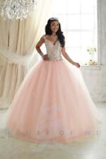 Fiesta Princess 56293 Blush Pink Stunning Prom Quinceanera Ball Gown Dress sz 18