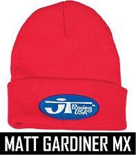 JT racing rouge bleu Beanie motocross mx bmx neon fluo rétro chapeau ovale vintage