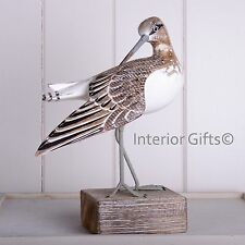 Archipelago Wood Carving SANDPIPER PREENING D206 bird watching Wader Sculpture