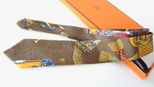 "HERMES Tie  Great CONDITION  Rare Tie ""ONE of A KIND"" Les Tambours 1989 . UNIQUE"