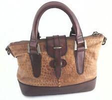 LIEBESKIND Berlin Handbag Brown Croc Embossed Leather Purse Satchel $288