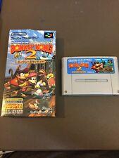 Super Donkey Kong 2 Nintendo Super Famicom With Box - US SHIPPER