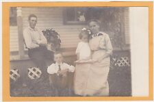 Real Photo Postcard RPPC - Family Outdoors Mother & Daughter & Photo Album