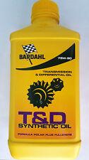 BARDAHL T & D SYNTHETIC OIL 75W-90 - Olio Auto Trasmissione e differenziali 1L