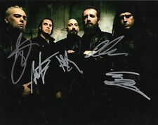 """Paradise Lost band REAL hand SIGNED 8x10"""" photo #2 COA Autographed by 5 members"""