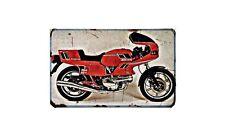 Ducati 350 Sport Desmo Motorbike Sign Metal Retro Aged Aluminium Bike