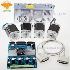 4 Axis Nema 23 Stepper Motor 290oz-in & Driver CNC Kit