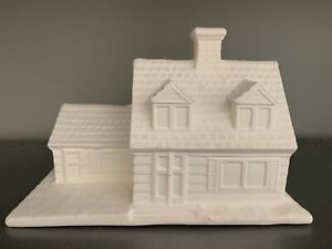 Village Train House Ceramic Bisque  Ready to Paint Pottery