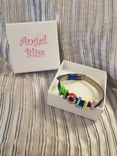 New Boxed Angel Bliss Bracelet Molly Diamante Buckle Blue