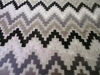 8.8 METRE OF CLARKE & CLARKE EMPIRE EBONY UPHOLSTERY FABRIC MANHATTAN COLLECTION