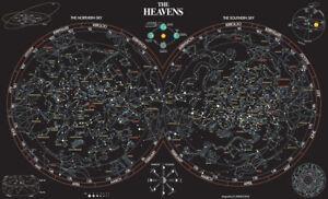 Celestial Night Sky Star Map Astronomy Astrology Constellation Chart Art Poster