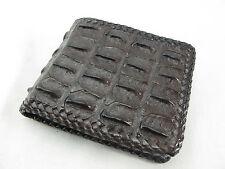 Genuine Crocodile Skin Leather Hornback Bifold Men Wallet Brown + FREE SHIPPING