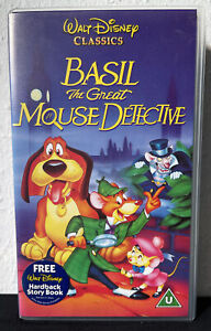 Walt Disney Classic Basil The Great Mouse Detective (VHS 1995) Video Tape
