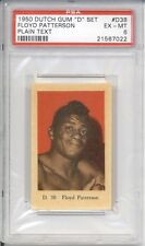1950 Dutch Gum FLOYD PATTERSON #D38 PSA 6 EX-MT Plain Text HIGHEST GRADED