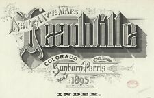Leadville, Colorado~Sanborn Map©sheets made in 1895 ~color with 52 map sheets