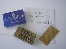 10 SCHMETZ SEWING MACHINE NEEDLES 80/12 FITS BERNINA PFAFF JANOME TOYOTA BROTHER