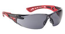 Bolle RUSH+ Safety Glasses - RUSHPPSF - UV Eye Protection - Smoke Lens