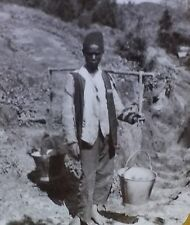 Malay Water Carrier, Cape Colony, South Africa, Magic Lantern Glass Slide
