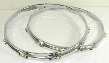 "14"" 10 Hole 3mm Batter & Snare Triple Flanged Hoops between 2.3 & Die Cast"