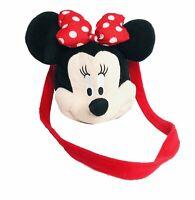 Disney Minnie Mouse Shoulder bag plush purse Minnie Mouse Soft Head