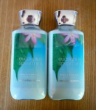 BATH & BODY WORKS EUCALYPTUS SPEARMINT LOTION 8 OZ  LOT OF 2 FULL SIZE BOTTLES