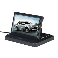 "5"" TFT LCD Monitor Car Rear View System Backup Reverse Camera Kit Night Vision W"