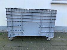 3 Stück Kunststoff-, Capp-, Palette, Rollcontainer,  Transportbox mit Rollen