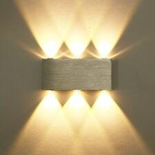 Design 6W LED Wandleuchte Wandlampe Flurlampe Wandstrahler Warmweiß Alu. DHL