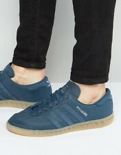 NEW Adidas Hamburg Mineral Blue Leather / Gum Sole Men's 11 samba spezial