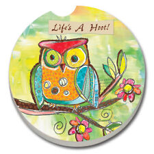 SET OF 2 - Absorbent Car Coasters- Life's a Hoot- Owl  New! Free shipping!