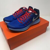 Nike Kids Zoom Pegasus 33 Unisex Sneakers Blue Red 834316-402 Lace Up Y 4.5 New
