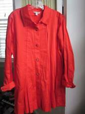 SPANNER women's red pleated swing tunic french cuffs Sz 14