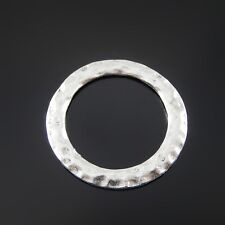 12 pcs Vintage Silver Zinc Alloy Round 32mm Circle Ring Charms Pendant Findings
